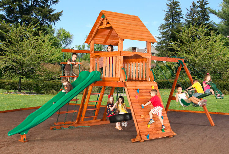 Wooden Swing Sets Play Gyms Playgrounds Amp Crooked Houses