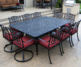 Here's a Review of Cast Aluminum & Extruded Aluminum Patio Furniture